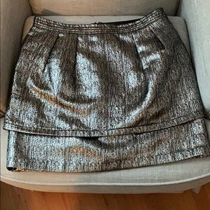 Black and Silver Mini Skirt